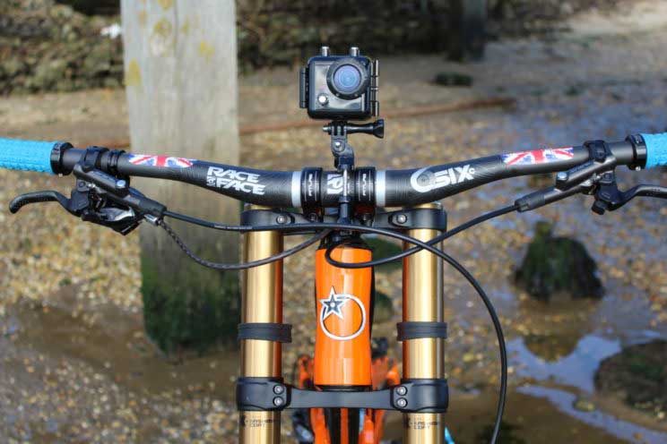 Bar mounted Kaiser Bass action cam