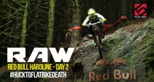 HUCK-TO-FLAT BIKE DEATH – Vital RAW Red Bull Hardline Day 2 5