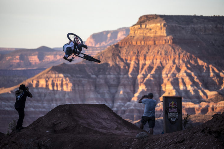 Ethan Nell rides during the Red Bull Rampage in Virgin, UT, USA on 23 October, 2015.