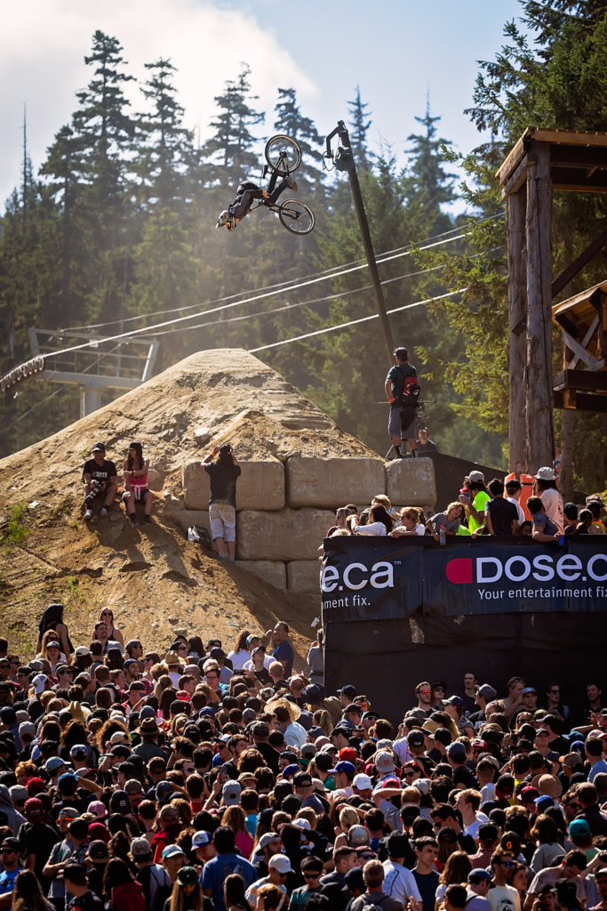 Reed Boggs during the Red Bull Slopestyle at Crankworx Whistler, August 19, 2017 (Photo by clint trahan/clinttrahan.com)