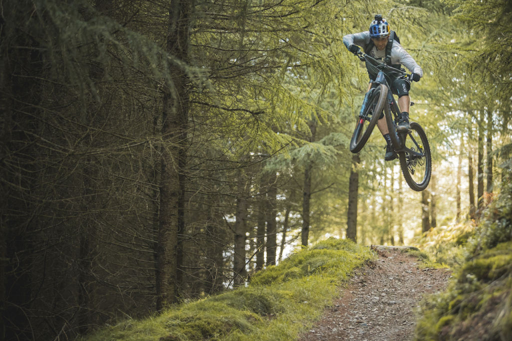Danny MacAskill riding his MTB at the trail center in Whinlatter, UK 2 - Photo by Dave Mackison